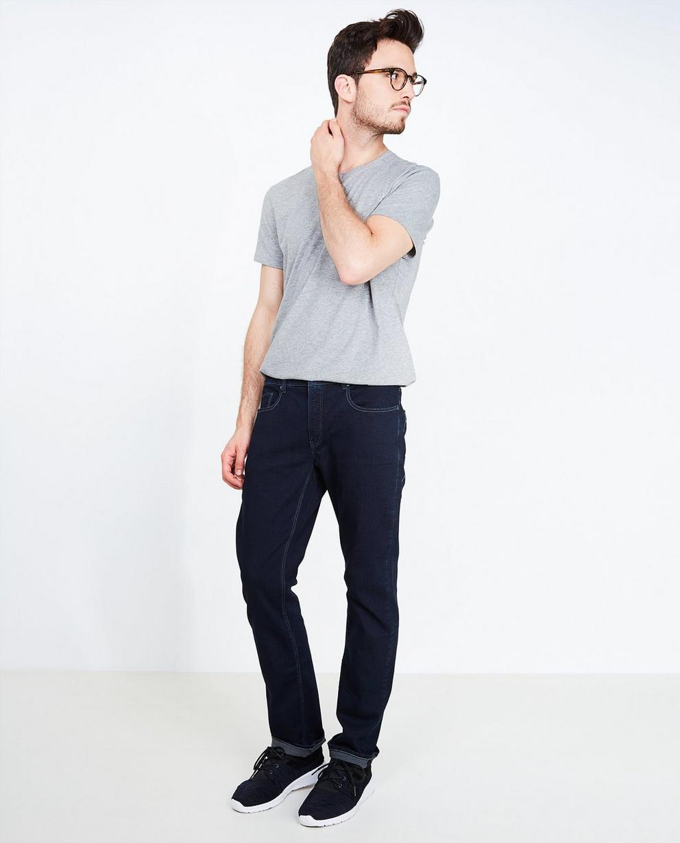 Jeans bleu foncé - fitted straight - Tim Moore